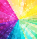 Rainbow bright background with rays Royalty Free Stock Photos
