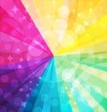 Rainbow bright background with rays. Vector illustraion Royalty Free Stock Photos
