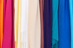 Rainbow of bright cloth Stock Photography