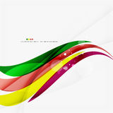 Rainbow bright light air lines background. Green and yellow colors Royalty Free Stock Image