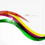 Rainbow bright light air lines background Stock Images