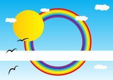 Rainbow brochure Royalty Free Stock Photos