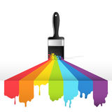 Rainbow brush Stock Photography