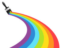 Rainbow brush. Abstract background Stock Photos
