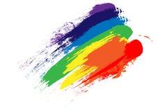 Rainbow brush strokes vector illustration