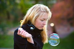 Rainbow bubble Royalty Free Stock Images
