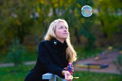Rainbow bubble_2 Royalty Free Stock Photography