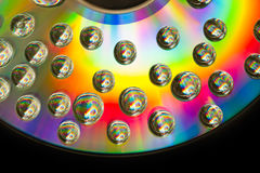 Rainbow bubble on cd Royalty Free Stock Image