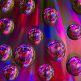 Rainbow bubble on cd Stock Photography
