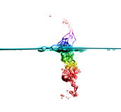 Rainbow bubble water Royalty Free Stock Photos