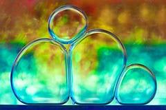 Rainbow bubbles. Macro studio shot Royalty Free Stock Photo