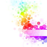 Rainbow bubbles. Colorful transparent rainbow bubbles background. Vector illustration Royalty Free Stock Photo