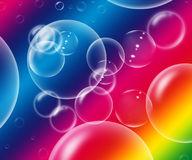Rainbow bubbles Royalty Free Stock Image