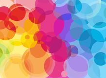 Rainbow bubbles Royalty Free Stock Photos