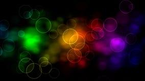Rainbow Bubbles stock video footage