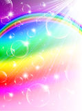 Rainbow Bubbles Background Royalty Free Stock Image