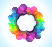 Rainbow Bubbles Background for Elegant Flyers Royalty Free Stock Photos
