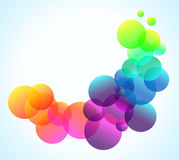Rainbow Bubbles Background for Elegant Flyers Stock Images
