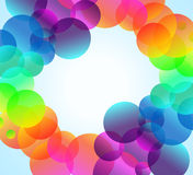 Rainbow Bubbles Background for Elegant Flyers Stock Photos