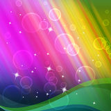 Rainbow Bubbles Background Shows Circles And Ripples Royalty Free Stock Photo