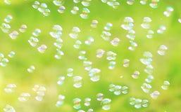 The rainbow bubbles Stock Photo