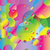 Rainbow bubbles colorful geometric illustration background. Lovely Image for graphic art or digital art Stock Image