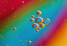Rainbow bubbles Stock Photos