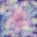 Rainbow bubles on deep blue blur texture Stock Images