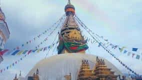 Rainbow buddha statue royalty free stock image