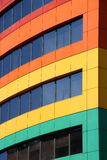 Rainbow building stock image