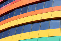 Rainbow building Royalty Free Stock Photography