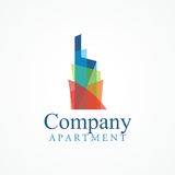 Rainbow Building logo Stock Images