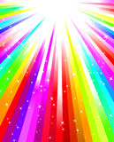 Rainbow  burst Stock Photo