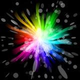 Rainbow Burst. Graphic Illustration of Rainbow Burst Royalty Free Stock Photo