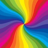 Rainbow Burst. Makes a very colorful background stock illustration