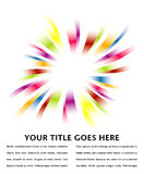 Rainbow burst design. Rainbow burst design with copy space stock illustration