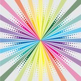 Rainbow burst with halftone Stock Photo