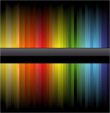 Rainbow Business Card for Flyers Stock Photography