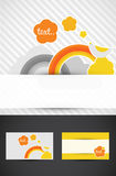 Rainbow business cards. Business cards with a rainbow theme and graphics Stock Photography