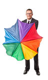 Rainbow business Stock Image