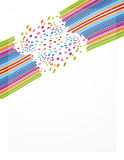 Rainbow business sheet design Stock Photos
