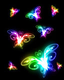 Rainbow butterflies Royalty Free Stock Photo