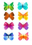 Rainbow butterflies Stock Photography