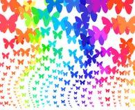 Rainbow butterflies. Background of rainbow butterflies swirl Royalty Free Stock Photos