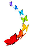 Rainbow butterflies background Stock Photo