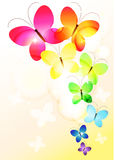 Rainbow butterflies  vector background Royalty Free Stock Photo