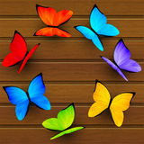 Rainbow butterflies Royalty Free Stock Image