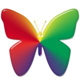 Rainbow Butterfly Royalty Free Stock Photography