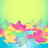 Rainbow butterfly background Stock Images