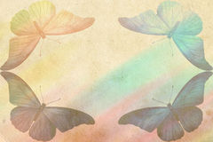 Rainbow butterfly background Stock Photo